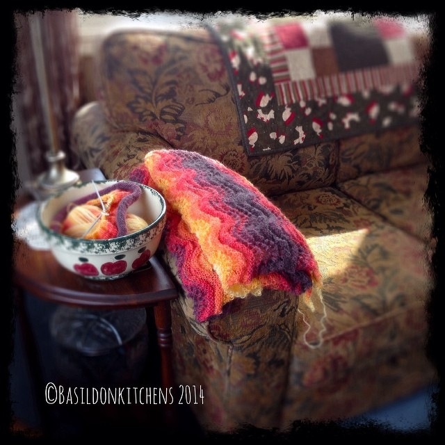 23/2/2014 - this is where I relax {a cozy corner where I read, knit, check emails, chat with friends & loved ones; & enjoy a quiet glass if wine} #fmsphotoaday #relax #cozy #home