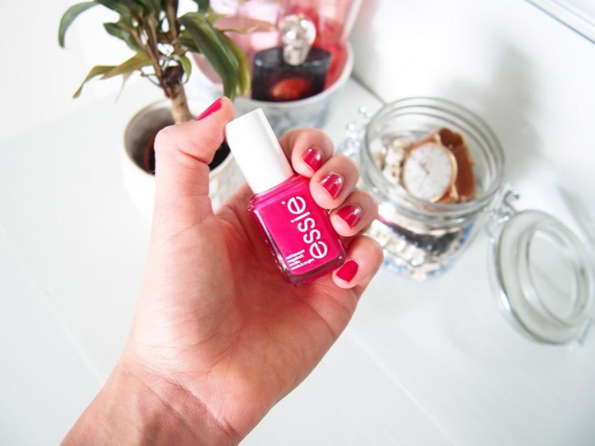 Pink Essie Watermelon nail polish