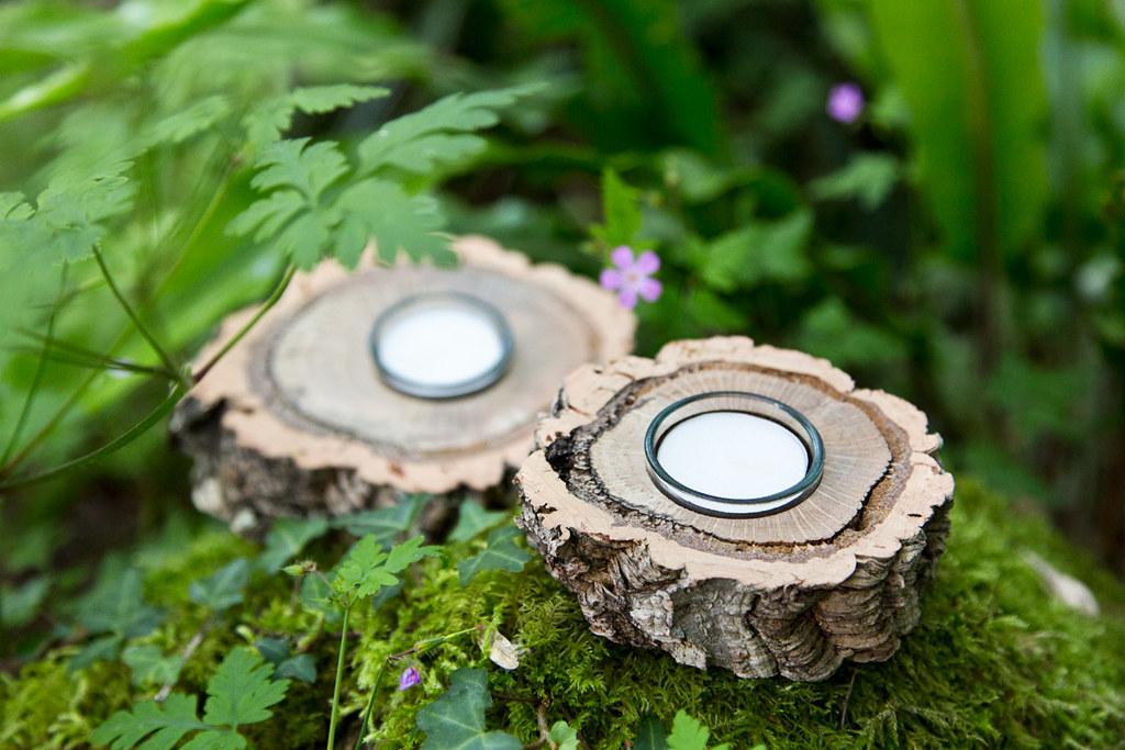 Xianna tealight holder made of cork