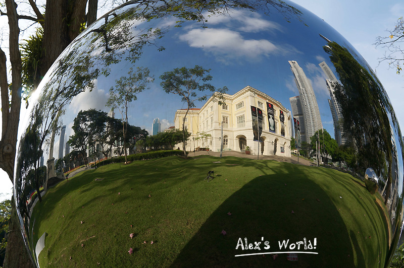 Giant metal bubble in Singapore