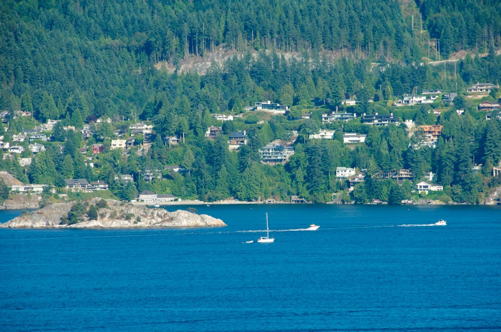West Vancouver from the deck of a house at Dorman Point, Bowen ...
