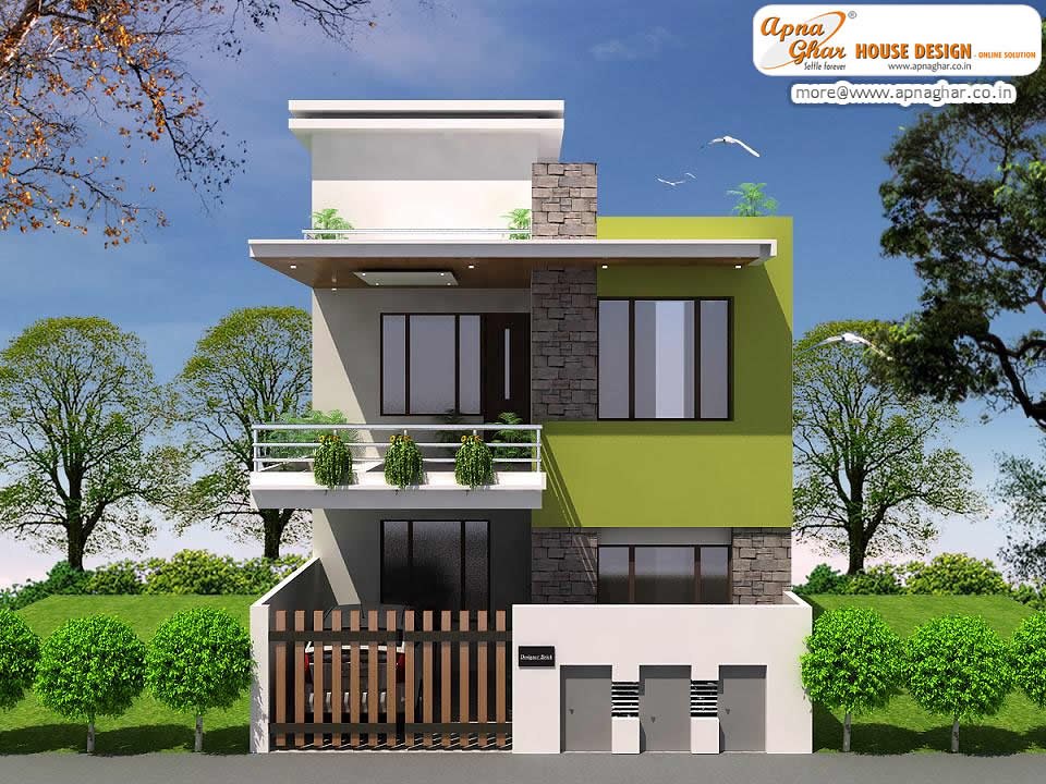 Modern Duplex House Design | Simple Modern Duplex House Desi ...