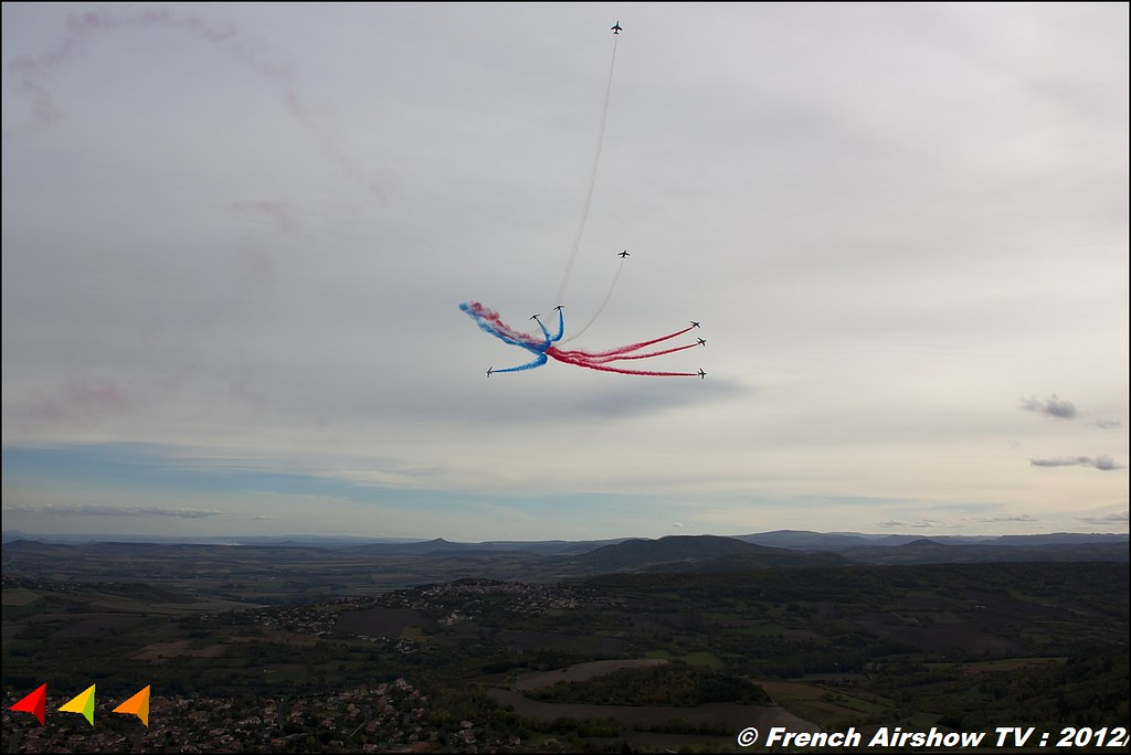 Patrouille de France Cervolix Plateau de Gergovie Auvergne Comment faire photos de Meeting Aerien 2012