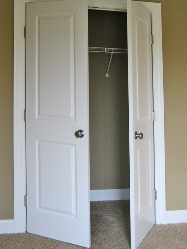 Double door closet photo provided by schumacher homes for French doors that open out