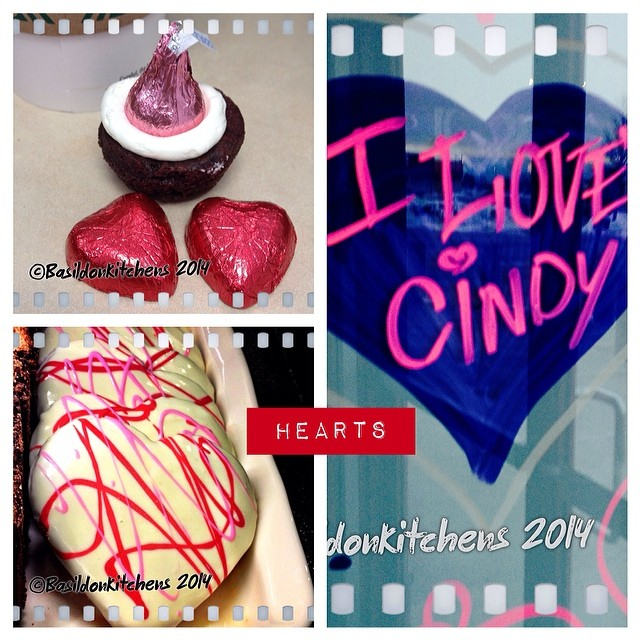 14/2/2014 - hearts {all found today!} who's Cindy??? #photoaday #heart #valentine #cookies #chocolate #treats #starbucks