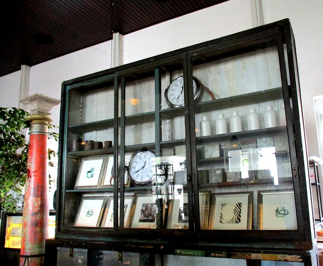 Old Courthouse, antique display cabinet
