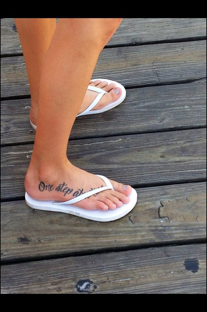 I took this picture tattoo feet one step at a time for Tattoo one step at a time