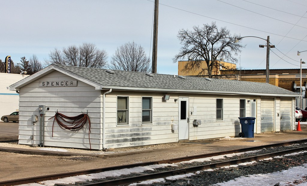 Milwaukee Road Railroad Depot - Spencer, IA | Built by the ...