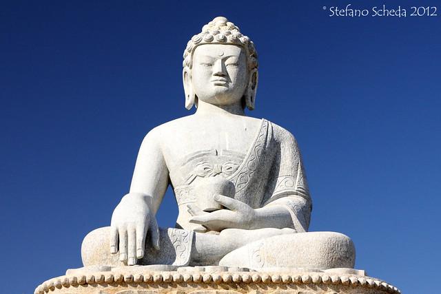 White Buddha at the Black Mountain - Bayanzürkh Uul, Mongolia