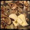 #ZucchiniBlossom #Mushroom #Potato Frittata  #Homemade #CucinaDelloZio - add butter