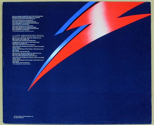 "DAVID BOWIE ALADDIN SANE GATEFOLD ALBUM COVER 12"" LP VINYL"