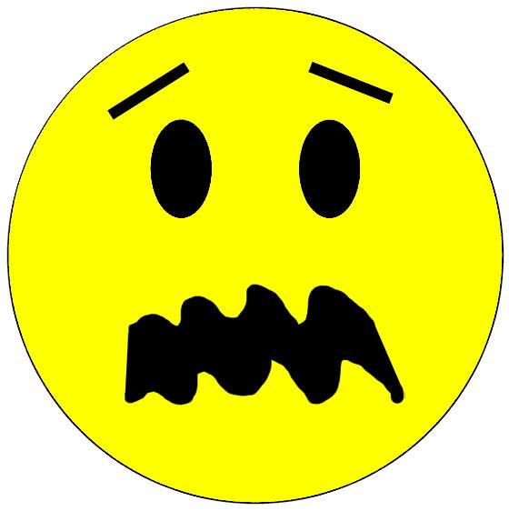 Scared Face Emoticon H...