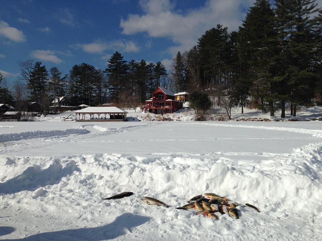 Ice Fishing Lake Fairlee Vt Adamchandler86 Flickr
