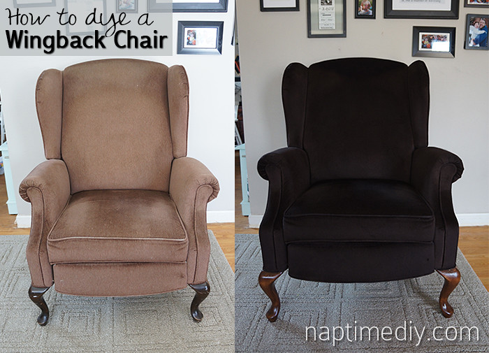 How To Dye A Wingback Chair Before And After How To Dye