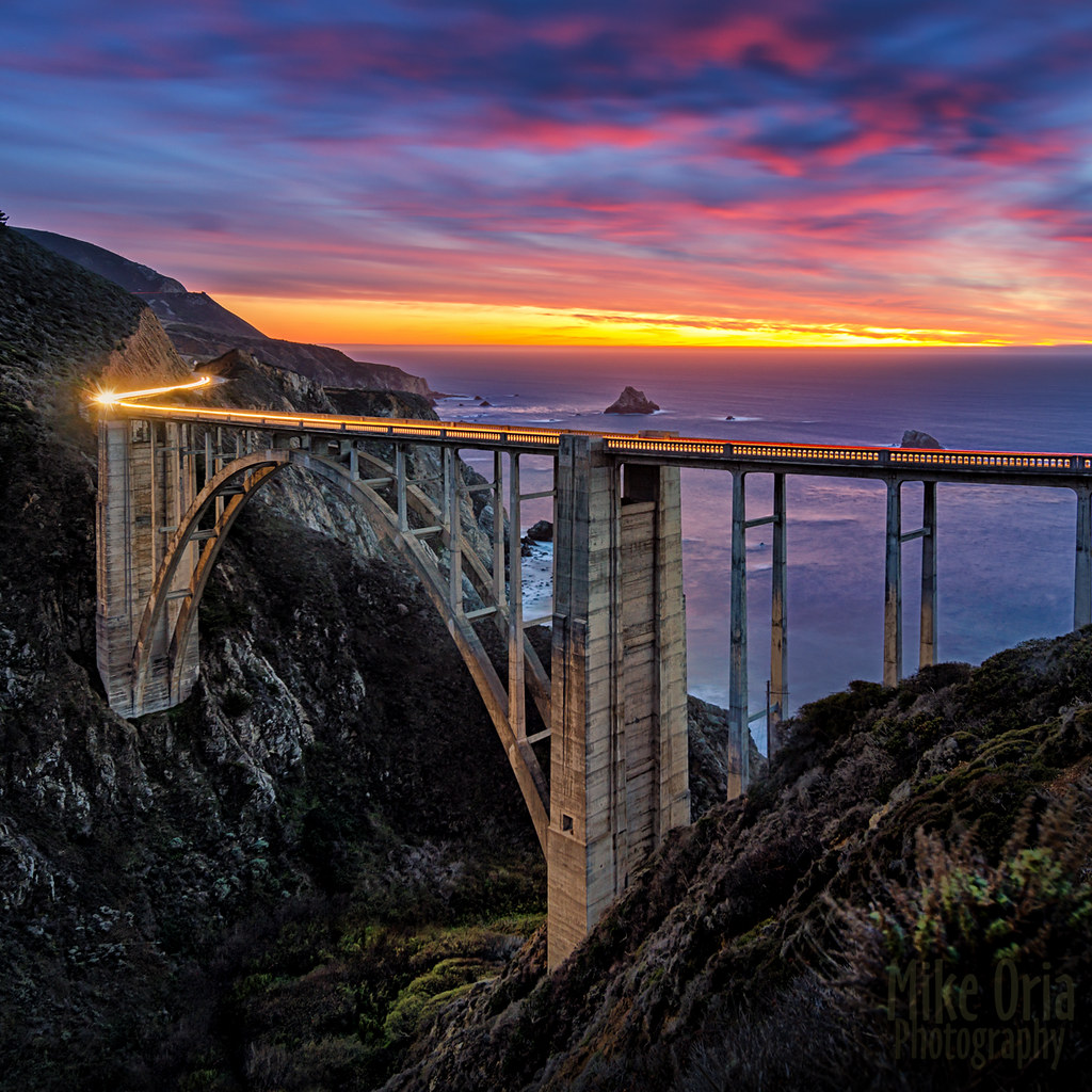 Bixby Bridge Sunset I Had A Brief Opportunity To Visit