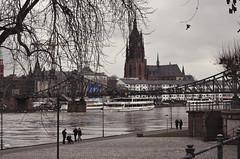 Мост Айзернер - Штег. Eiserner Steg. Frankfurt. Germany