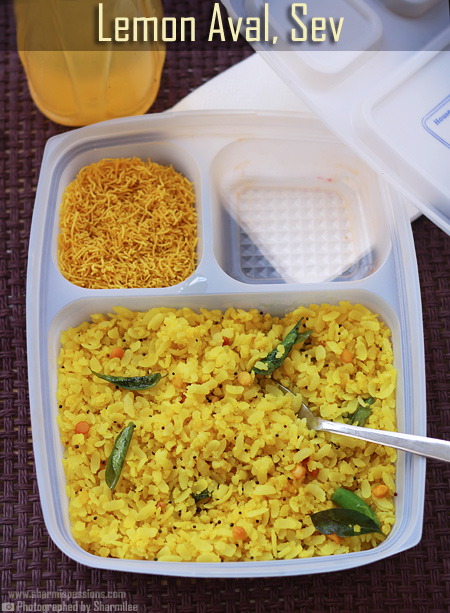 Lemon Poha, Plain Sev