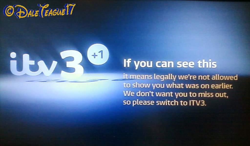 Itv3 1 Off Air Itv3 1 When It S Off The Air Due To