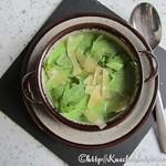 Suppe von frischer Rauke
