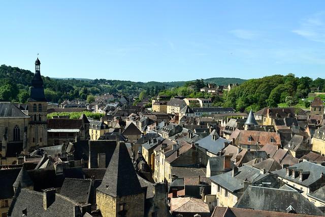 View over Sarlat, Dordogne Valley | www.rachelphipps.com @rachelphipps