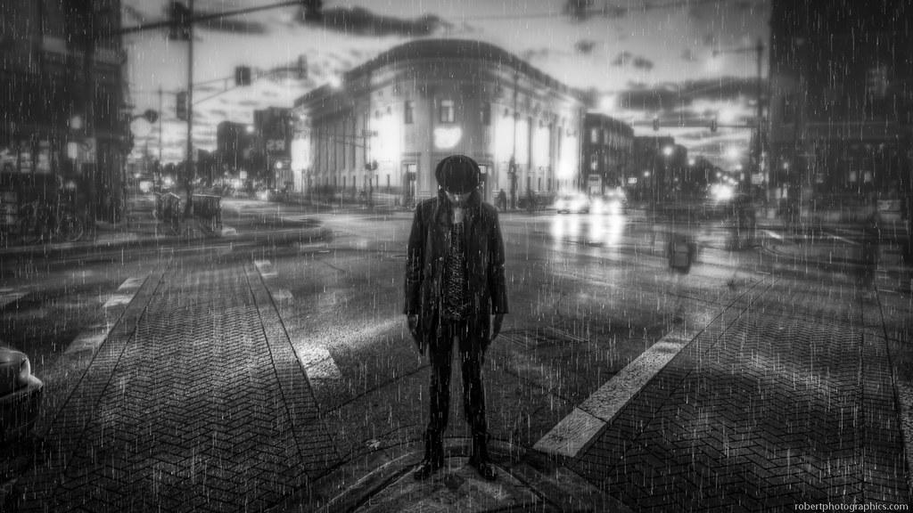 Download Black And White Rain Wallpaper Photo #i8s0j ... |Rain Photography Black And White