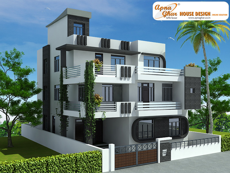 Triplex house design 7 bedrooms triplex house design in for Design house architecture hamilton