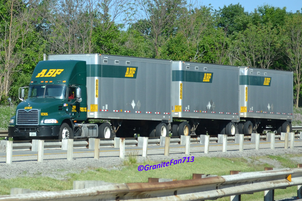ABF Freight Mack Pinnacle with Triples | Trucks, Buses, & Trains by granitefan713 | Flickr