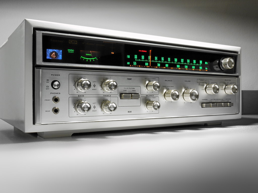 sansui qrx 3500 4 channel receiver 1973 a 4 channel receiv flickr. Black Bedroom Furniture Sets. Home Design Ideas
