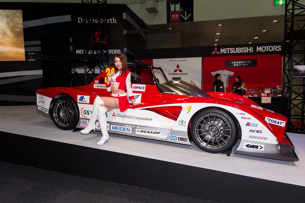 Mitsubishi motors tokyo auto salon 2014 show girl makuha flickr - Tokyo motor show 2014 ...