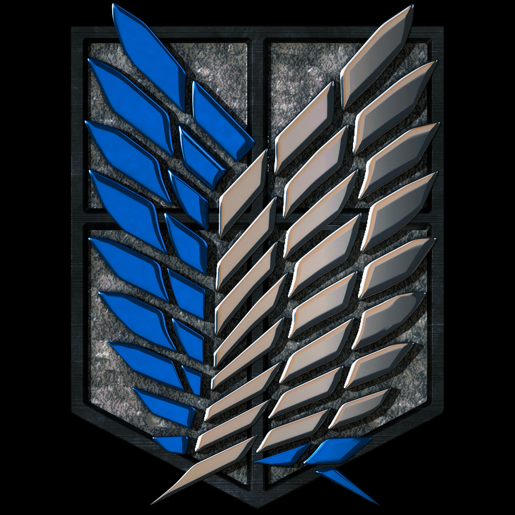 attack on titan logo r a 3d version of the survey corps Flickr Logo Icon Flickr flickr icon vector