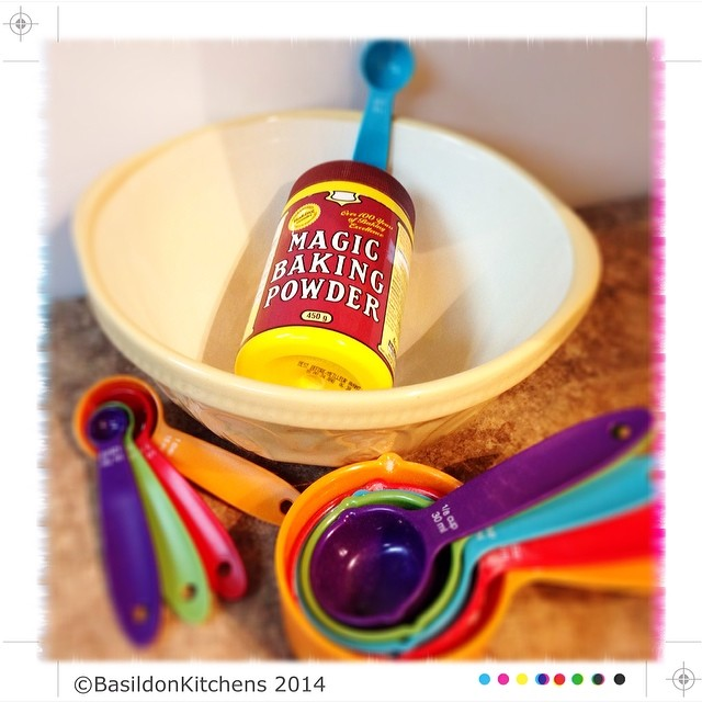 18/2/2014 - magic {this ingredient helps me make 'magic' in the kitchen} I love to bake! #fmsphotoaday #baking #magic #mixingbowl #measures #spoons