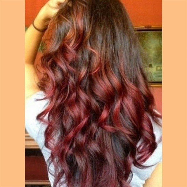 Auburn Red Hair Ombre Auburn to red ombre... #hair
