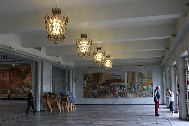 Oslo City Hall - interior decorations