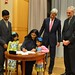 Nisha Desai Biswal Signs Her Appointment Papers to Become Assistant Secretary