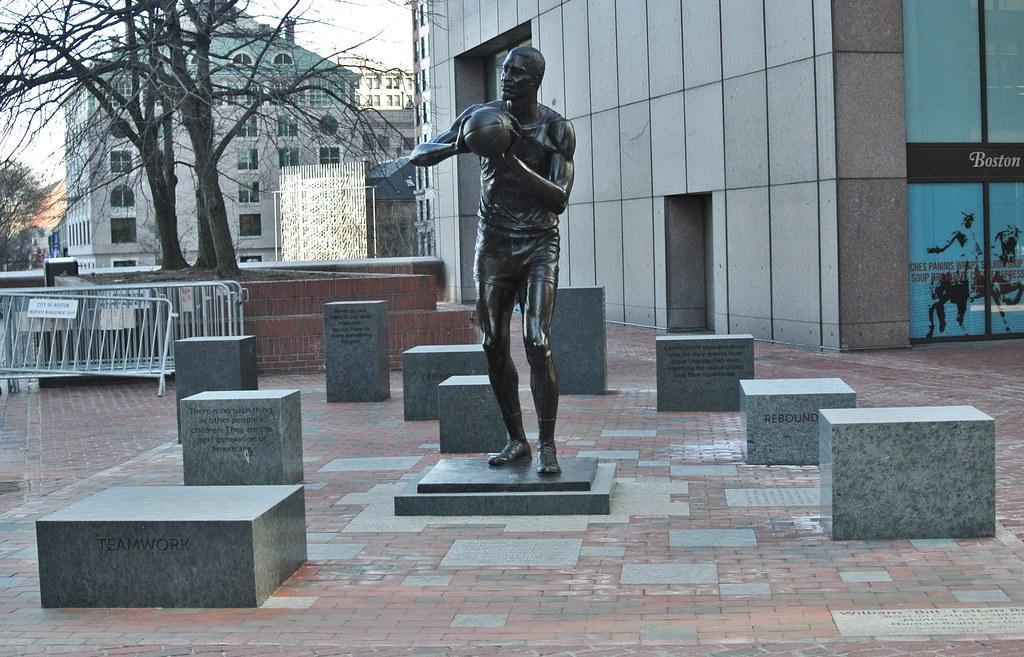 Bill Russell Statue City Hall Plaza Boston Ma