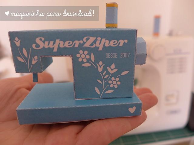 Máquina de costura de papel