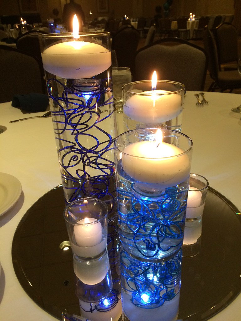 Blue led lights for centerpieces images