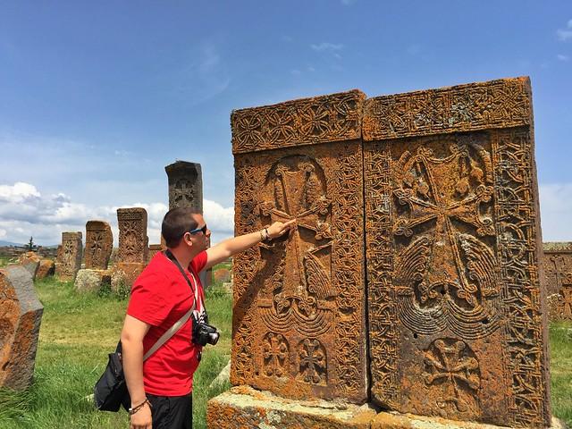 Sele en el cementerio de Noraduz (Armenia)