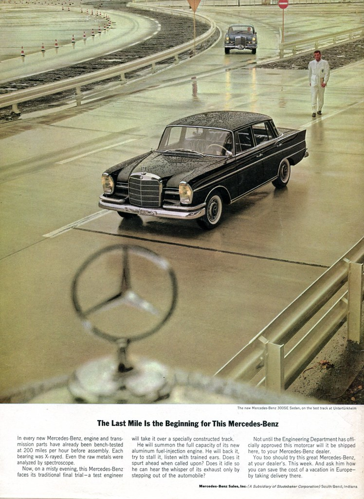 1963 mercedes benz advertising car and driver magazine may for Mercedes benz new advert