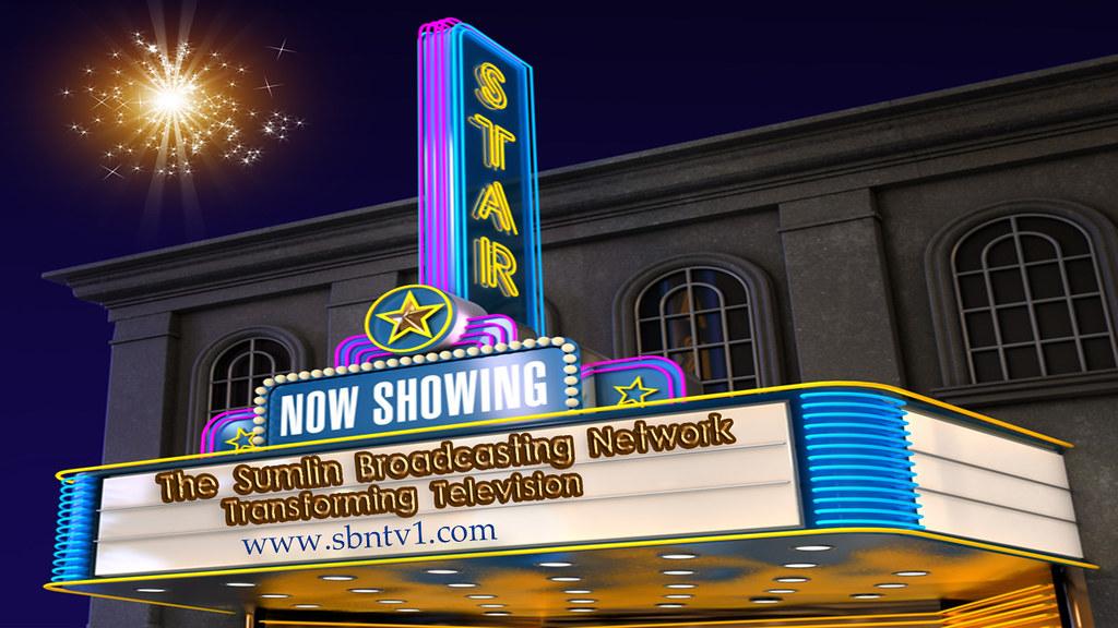 Movie Theatre | Exterior night shot of a retro illuminated ...