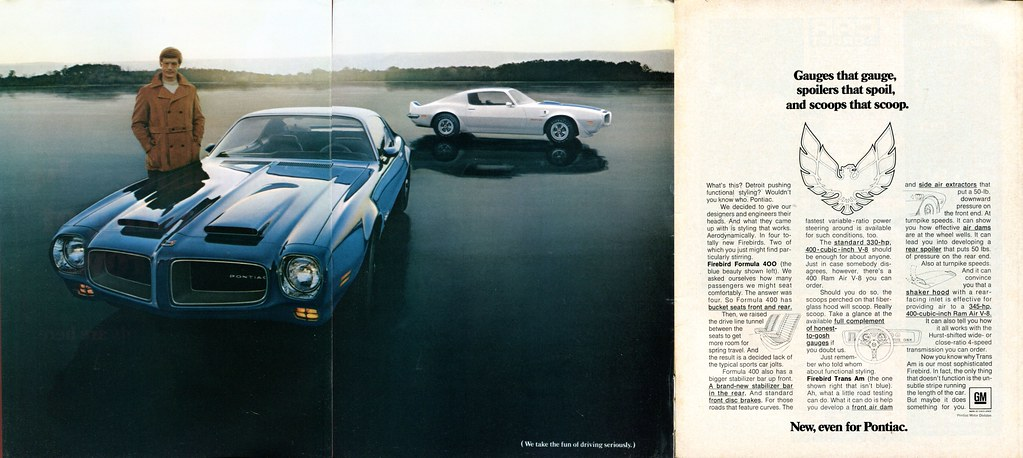 1970 Pontiac Firebird Formula 400 And Trans Am Advertiseme
