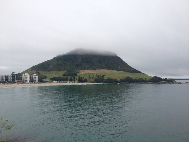 The Mount in fog - Mount Maunganui