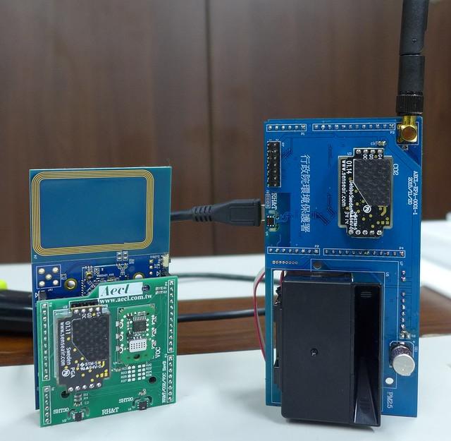 微型空汙監測器 環保署測試版  攝影:陳文姿