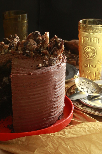 Chocolate Buttercrunch Cake