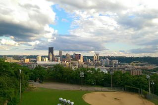 Overlooking Downtown from Team Decaf ride