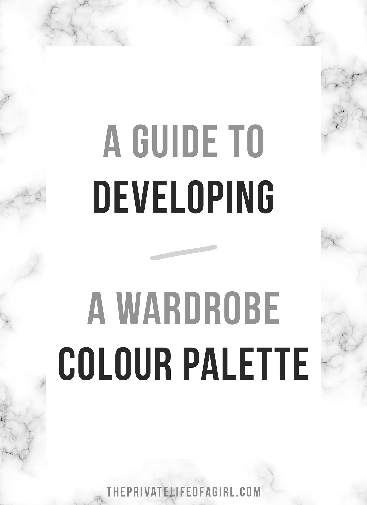 Developing a Wardrobe Colour Palette