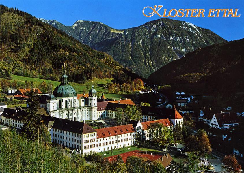 postcard kloster ettal germany ettal abbey kloster. Black Bedroom Furniture Sets. Home Design Ideas