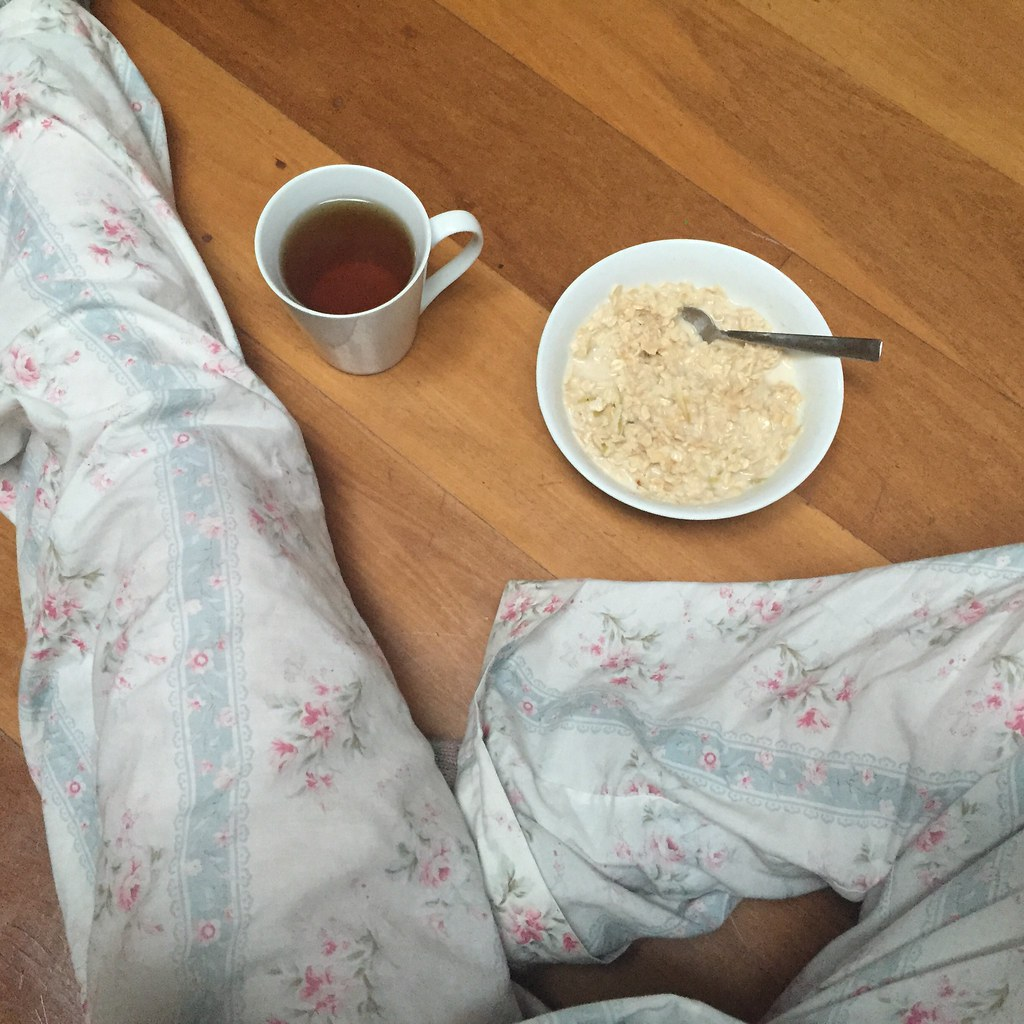handmade pjs sewn out of vintage floral sheeting