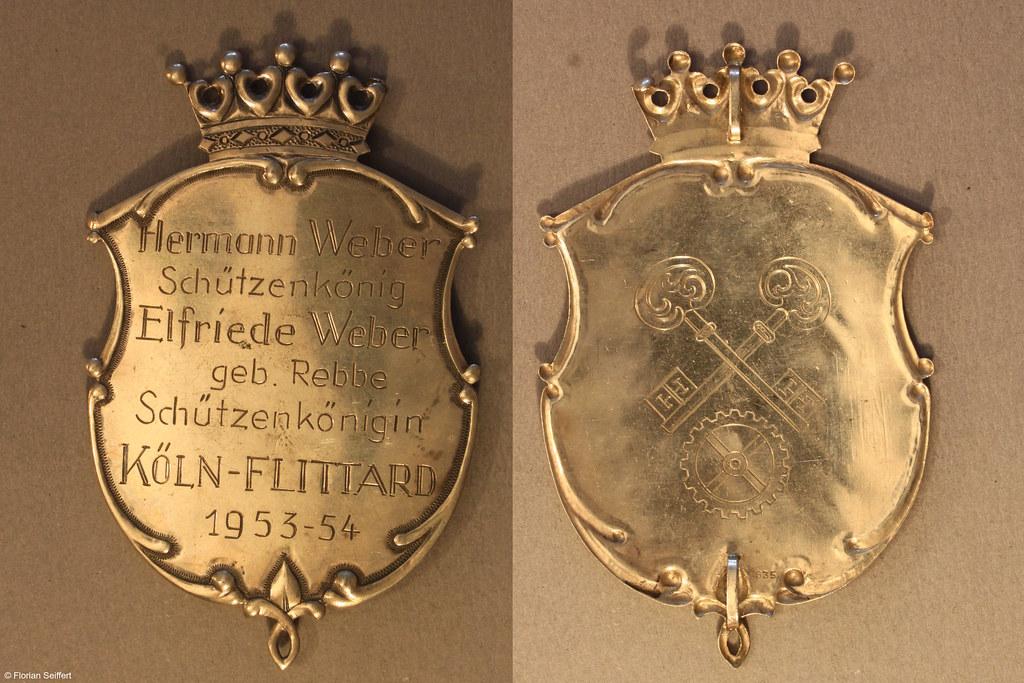 Koenigsschild Flittard von weber hermann aus dem Jahr 1953
