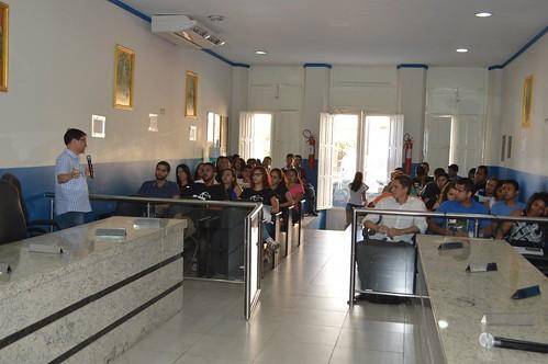 Aula do curso de Administração Pública na Câmara Municipal do Crato (PEEX)